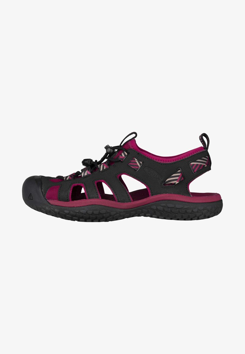 Keen - Walking sandals - raspberry wine/black