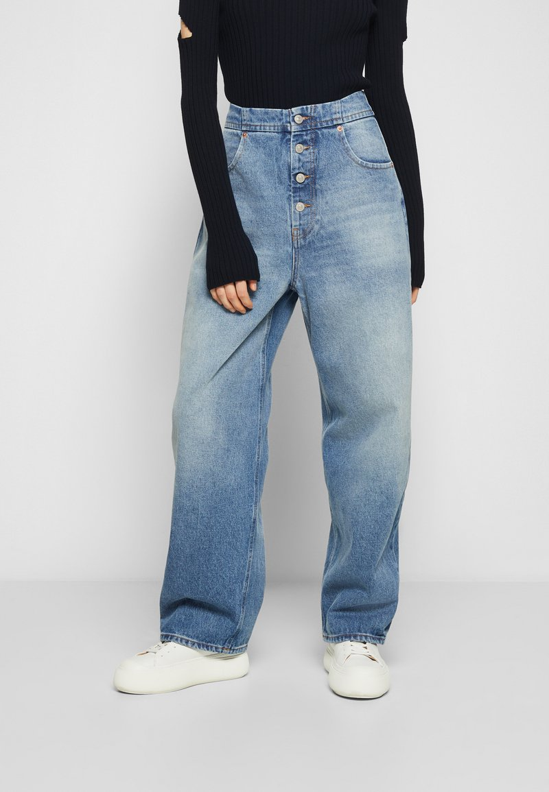 MM6 Maison Margiela - PANTS POCKETS - Relaxed fit jeans - vintage used/blue