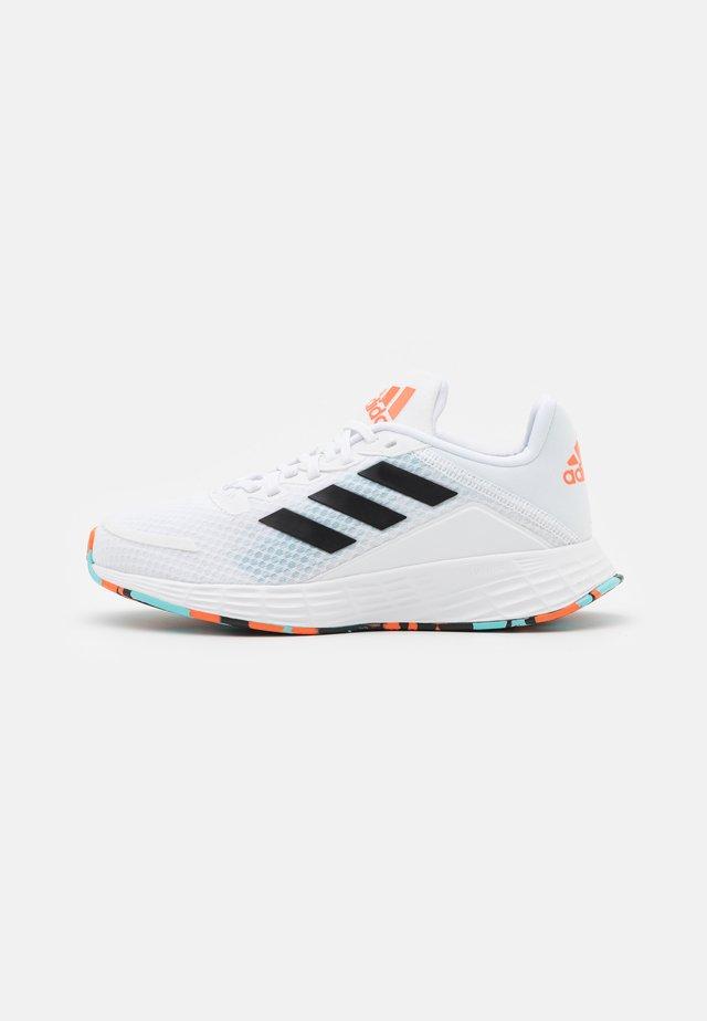 DURAMO UNISEX - Chaussures de running neutres - footwear white/core black/pulse aqua