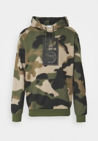 adidas Originals - CAMO HOODIE - Sweat à capuche - wild pine/multicolor/black - 5