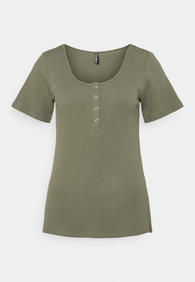 PCKITTE - Basic T-shirt - deep lichen green