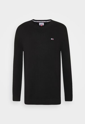 ESSENTIAL CREW NECK UNISEX - Sweter - black