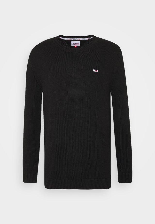ESSENTIAL CREW NECK UNISEX - Jersey de punto - black