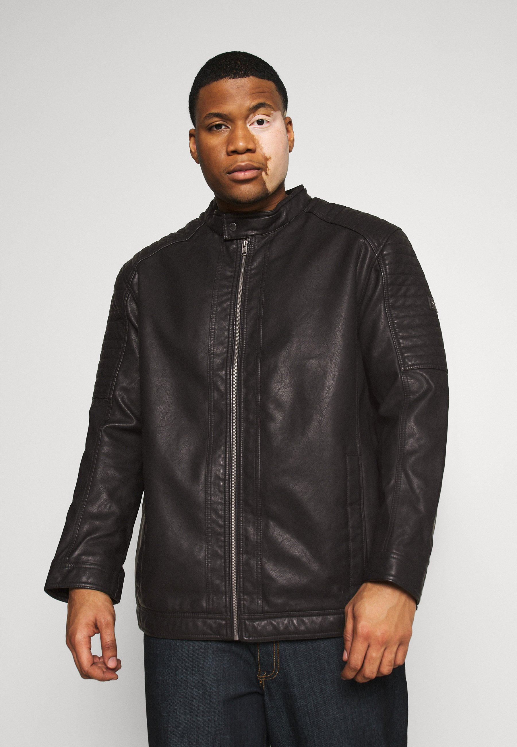 Uomo BIKER JACKET - Giacca in similpelle