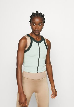 EXHALE CROP - Top - frosty green