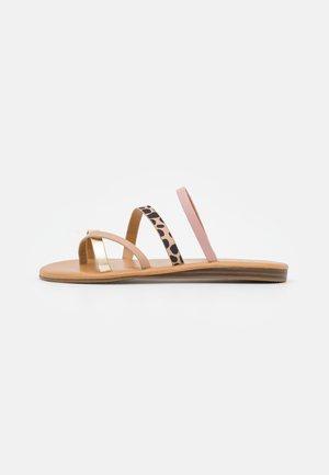 ADVENA - T-bar sandals - light pink