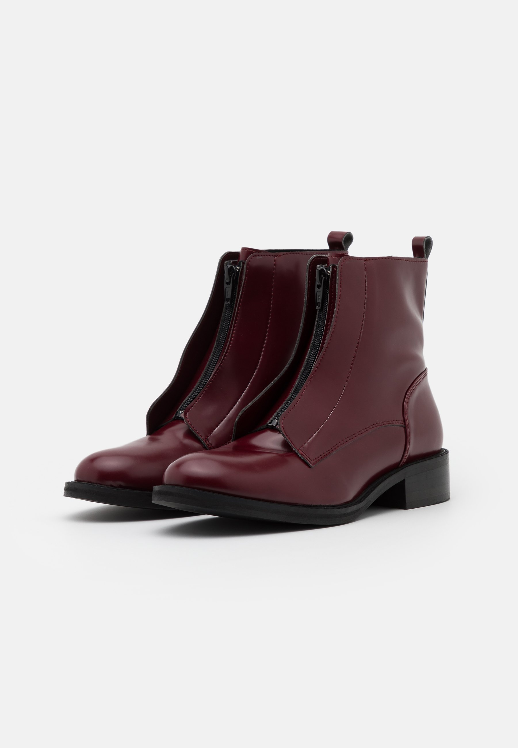 NAE Vegan Shoes ZIP ME VEGAN Stiefelette bordeaux/rot