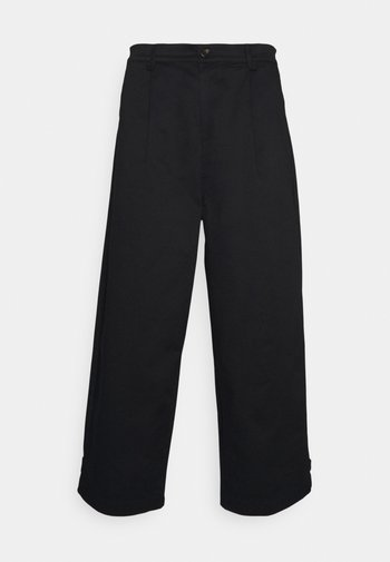 PLEAT CROPPED ADJUSTABLE  - Trousers - black