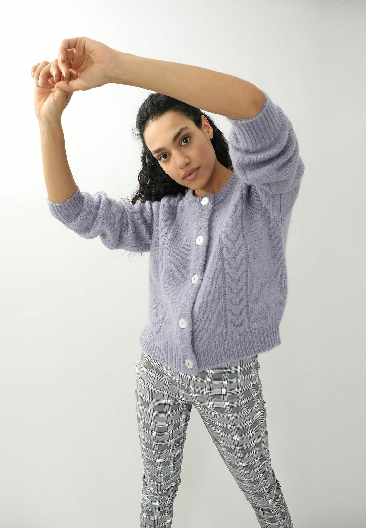 Donna MIT ZOPFMUSTER - Cardigan