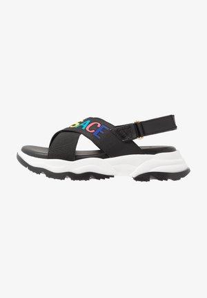 ELASTICI LOGO - Sandals - nero/oro caldo
