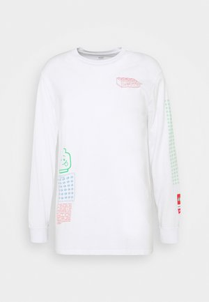 LS RELAXED FIT TEE UNISEX. - Topper langermet - white
