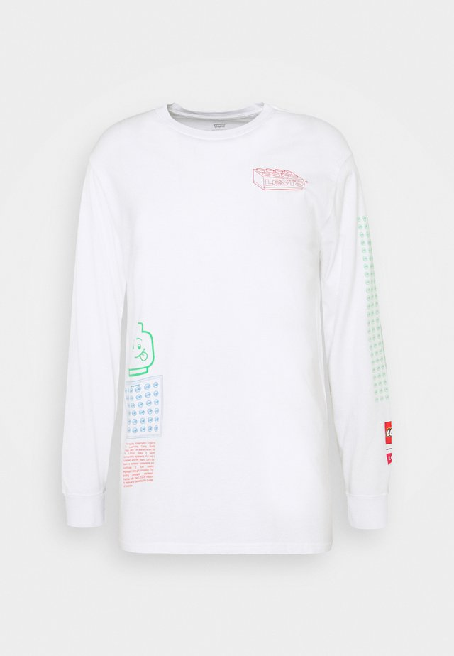 LS RELAXED FIT TEE UNISEX. - Long sleeved top - white