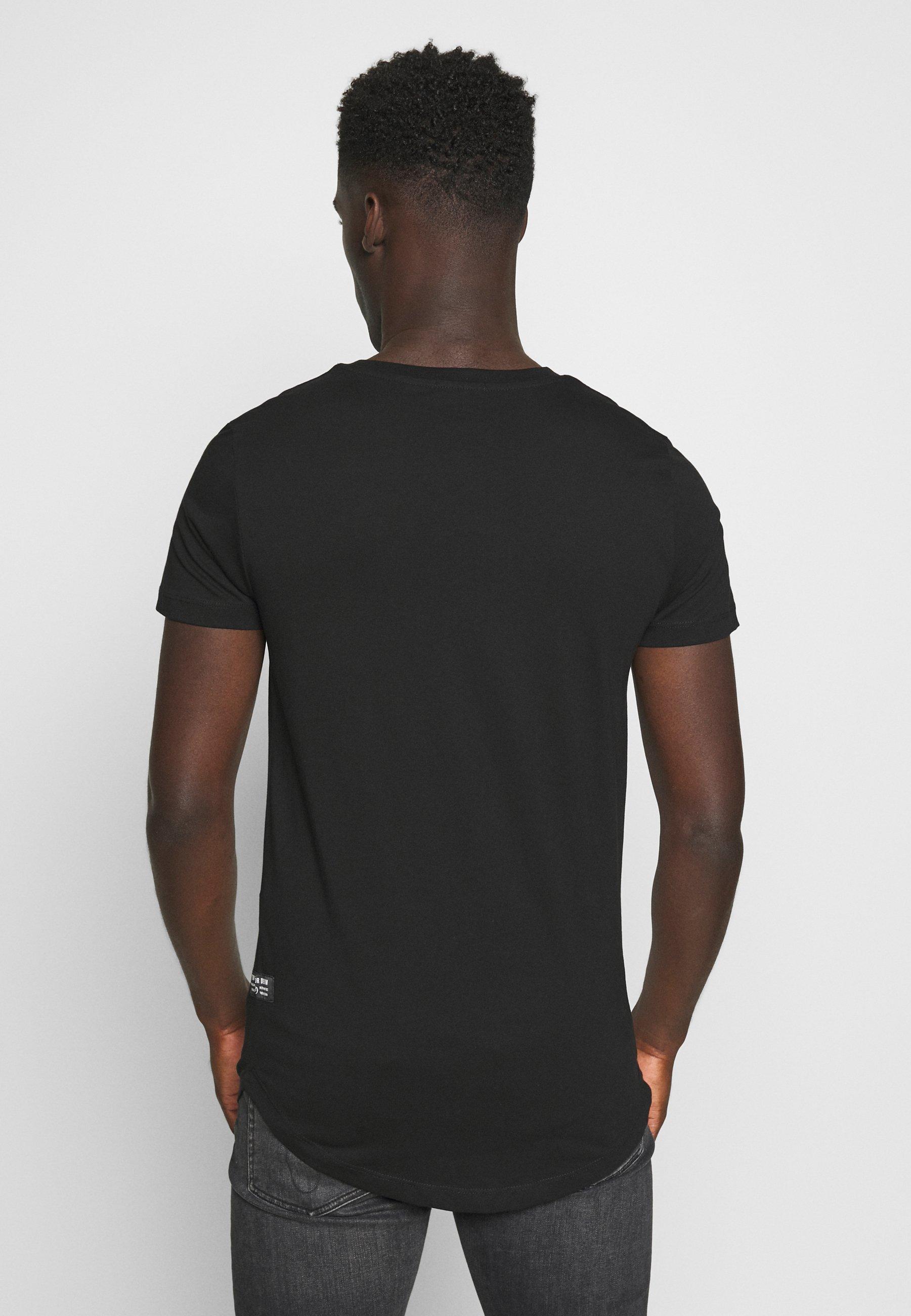 TOM TAILOR DENIM BADGE - Basic T-shirt - black ahkIy