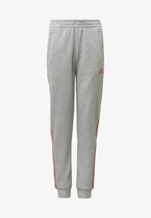 STRIPES TAPERED LEG TRACKSUIT BOTTOMS - Tracksuit bottoms - grey