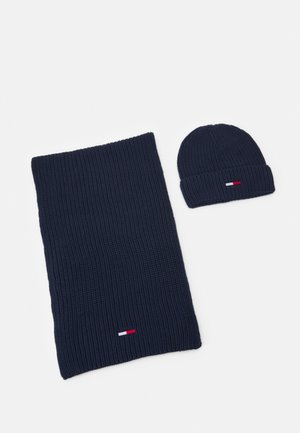BASIC SCARF BEANIE SET   - Šála - twilight navy
