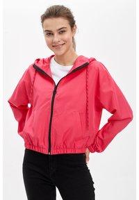 DeFacto - DEFACTO WOMAN LIGHT PINK - Zip-up hoodie - pink - 0