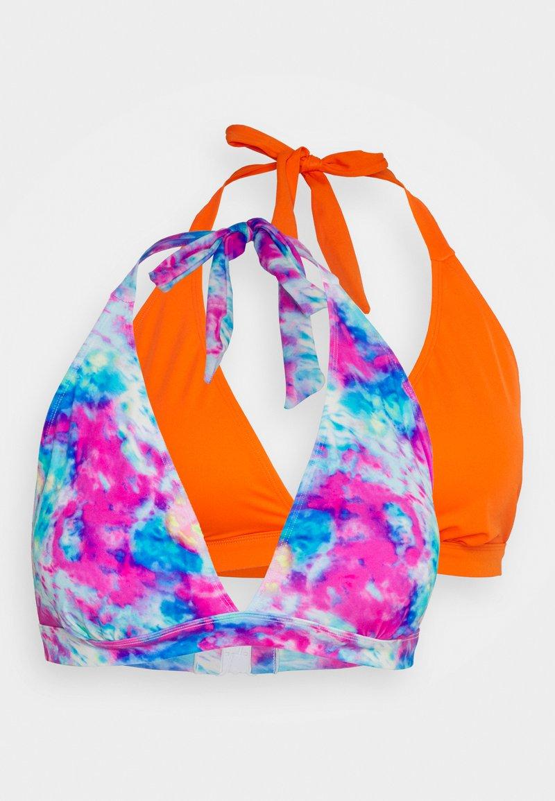 Simply Be - VALUE 2 PACK - Bikinitop - tie dye/orange