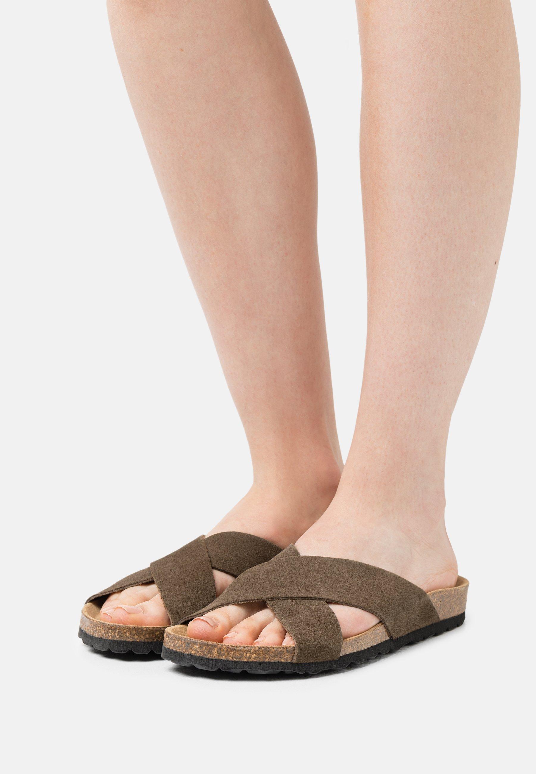 Women ONLMADISON LEATHER SLIP ON - Slippers