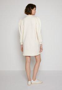 TOM TAILOR DENIM - PUFF SLEEVE DRESS - Day dress - soft creme beige - 3