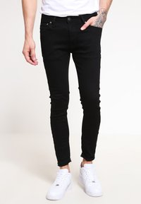 Jack & Jones - JJILIAM  - Jeansy Slim Fit - black denim - 0