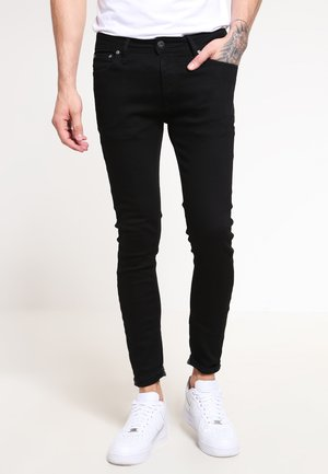 JJILIAM  - Vaqueros slim fit - black denim
