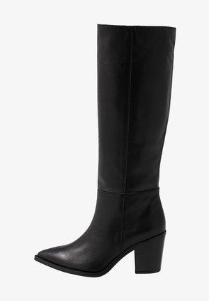 MACAE - Kovbojské/motorkářské boty - black