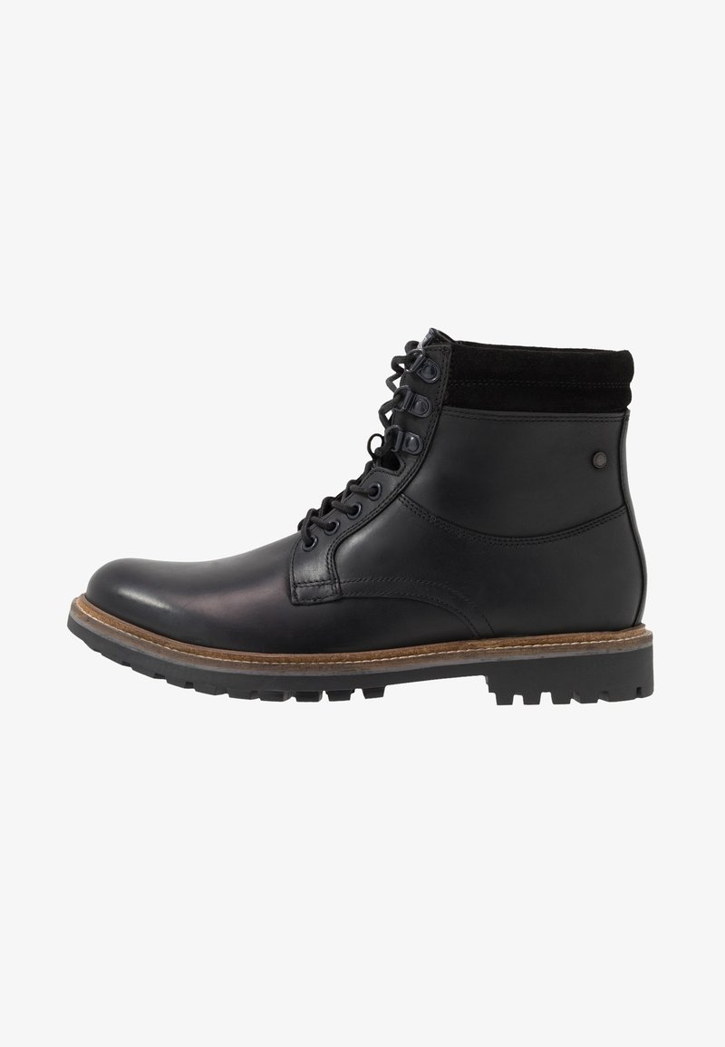 Base London - HIDE - Lace-up ankle boots - pull up black