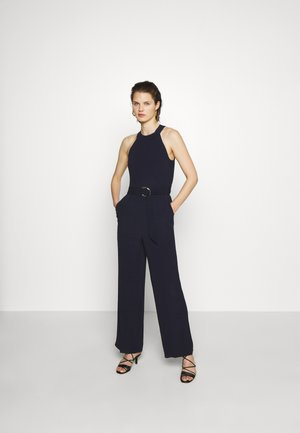 BELTED - Jumpsuit - navy blue