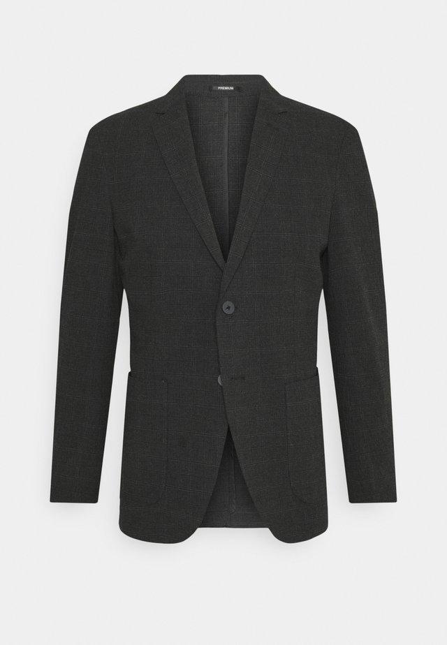 JPRSEERSUCKER - blazer - dark grey