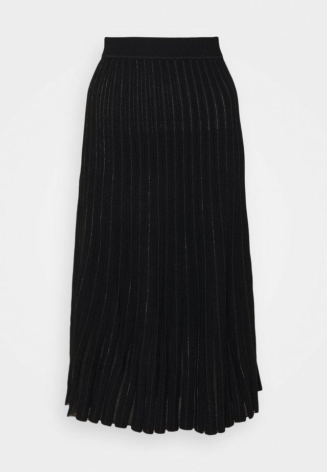 SELINA - Jupe trapèze - black