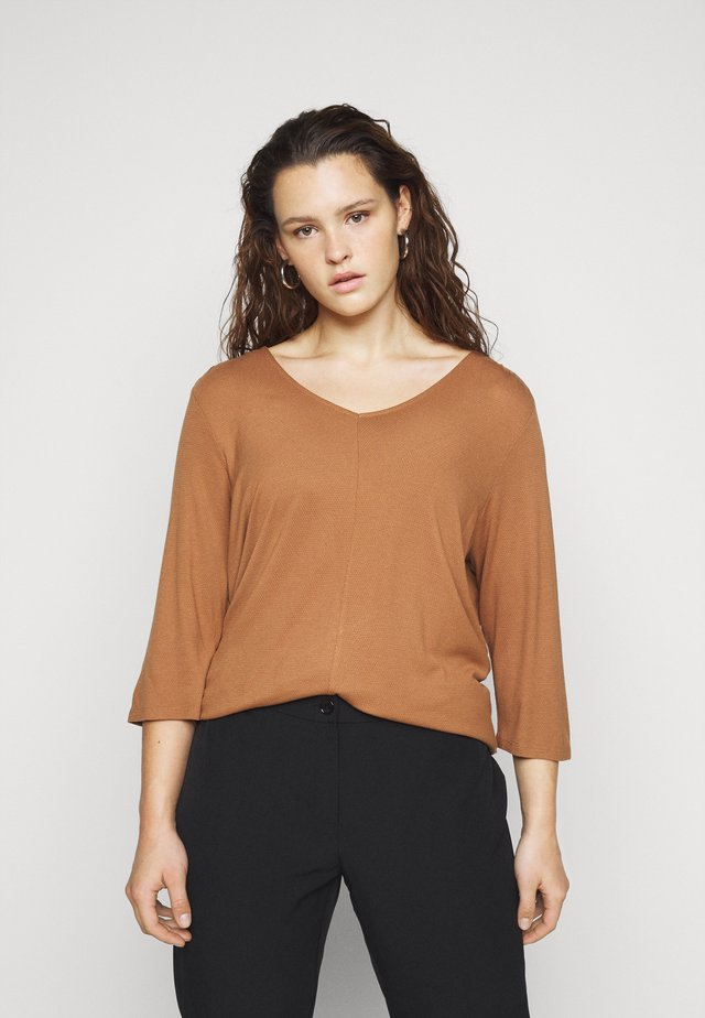 PLEAT DETAIL - Long sleeved top - light chestnut