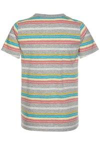 J.CREW - RAINBOW STRIPE - Print T-shirt - grey/multicolor - 1
