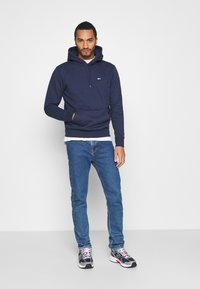 Tommy Jeans - REGULAR FLEECE HOODIE - Felpa con cappuccio - twilight navy - 1