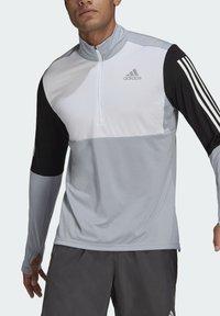 adidas Performance - OWN THE RUN RUNNING 1/2 ZIP SWEATSHIRT - Sweatshirt - grey - 3