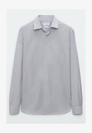 GESTREIFTES SLIM FIT - Kostymskjorta - blue