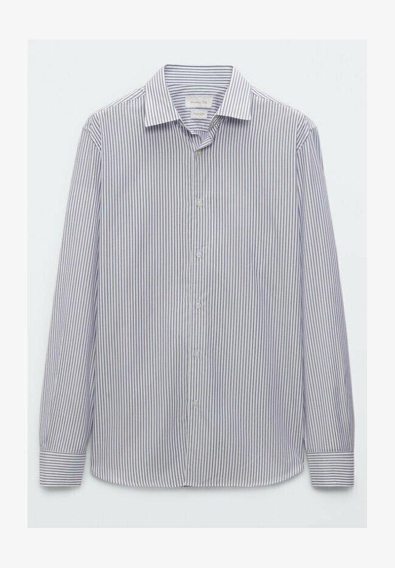 Massimo Dutti - GESTREIFTES SLIM FIT - Formal shirt - blue