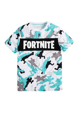 WHITE FORTNITE CAMOUFLAGE T-SHIRT (10-16YRS) - T-shirts print - white
