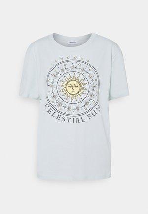 T-shirt print - light blue