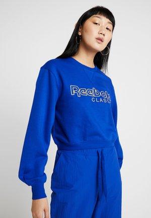 CREW PULLOVER FLEECE - Sweatshirt - cobalt