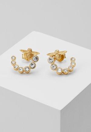 BEJEWELLED BEE SWIRL HOOP EARRINGS - Earrings - gold-coloured