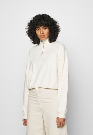 POM QUARTER ZIP - Sweatshirt - off white