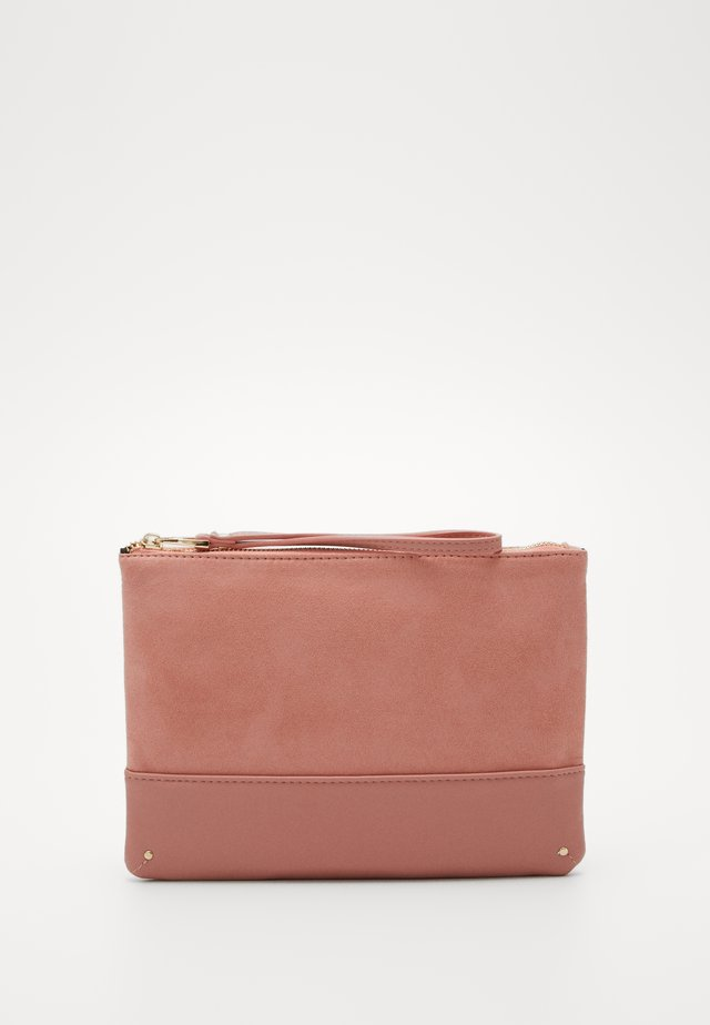 BLUSH STUD PANEL CLUTCH - Pikkulaukku - blush
