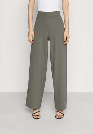 JENNA WIDE LEG TROUSERS - Trousers - castor grey
