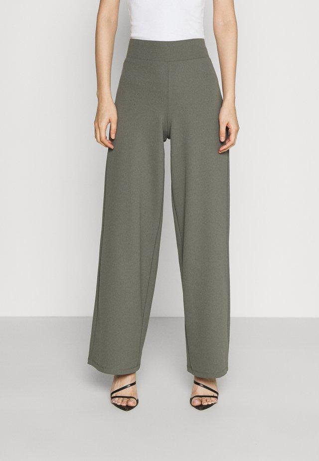 JENNA WIDE LEG TROUSERS - Spodnie materiałowe - castor grey