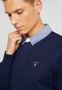 GANT - THE ORIGINAL HEAVY RUGGER - Long sleeved top - evening blue - 5