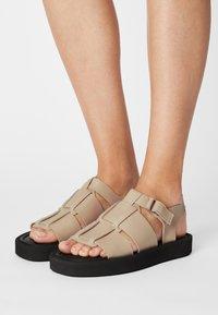 By Malene Birger - KLEVA - Platform sandals - wood - 0