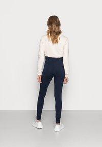 MAMALICIOUS - MLMIRA PINTUCK - Leggings - navy blazer - 2