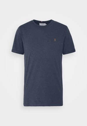 NØRREGAARD - Basic T-shirt - royal blue melange/orange