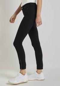 TOM TAILOR DENIM - Jeans Skinny Fit - used dark stone black denim - 2