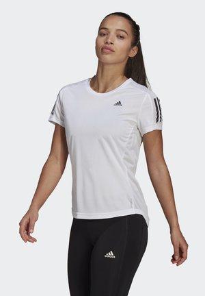 OWN THE RUN TEE - Camiseta estampada - white